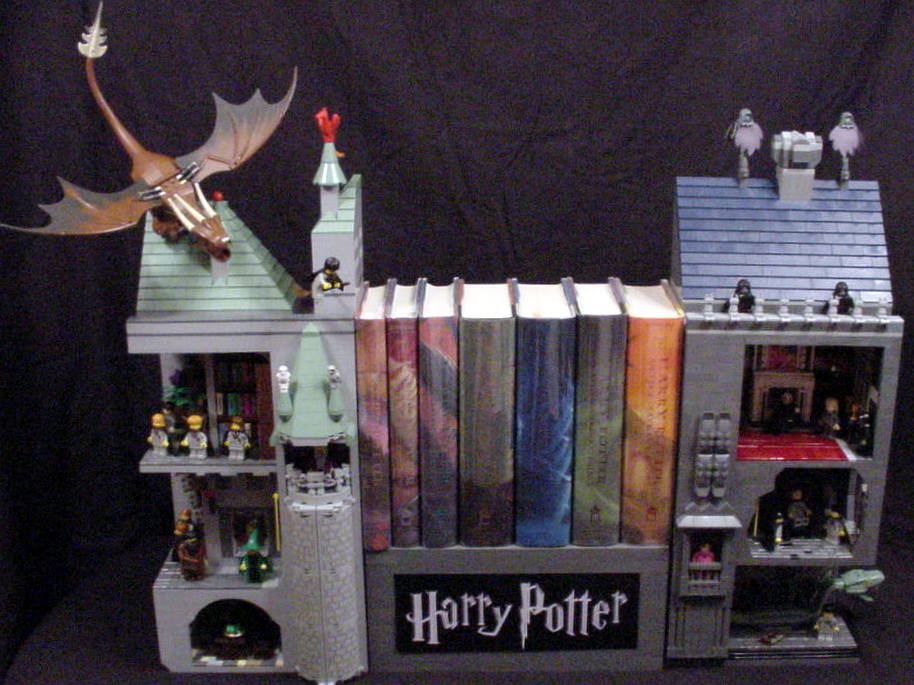 Harry Potter Bookends ~ Moc a modular life page