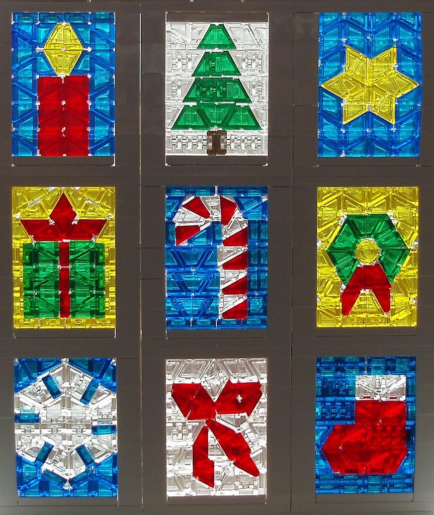 christmas window glass decorations