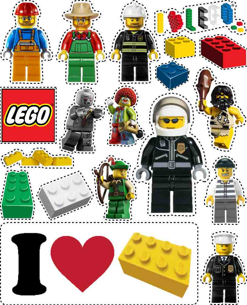Decisive image in printable lego